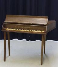 Arnold Dolmetsch Rosewood Jet Spinet Harpsichord