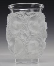 Lalique France Frosted Crystal Bagatelle Bird Vase