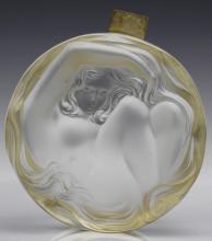 Art Deco Lalique Nude Daphne Crystal Dresser Box
