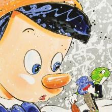Signed David Willardson Oh Boy Pinocchio Serigraph