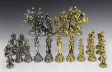 Signed Yaacov Heller Israelites Philistine Gold & Silver Over Bronze CHESS SET