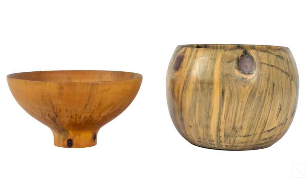 Norfolk Island Pine Hawaiian Calabash Wood Bowls
