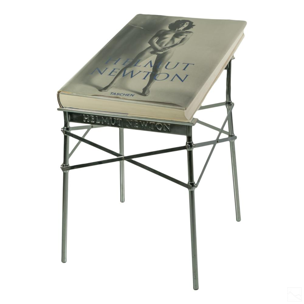 Helmut Newton SIGNED Book & Philippe Starck Stand