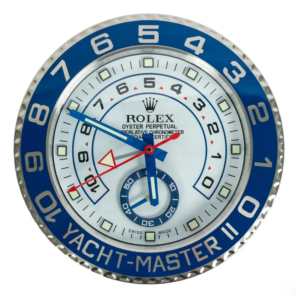 Yacht Master II Dealers Wall Clock after Rolex