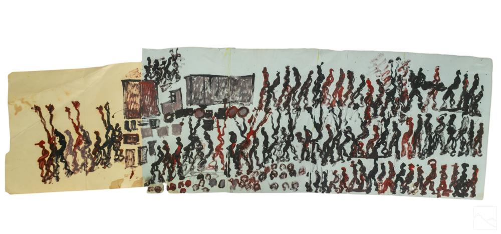 Purvis Young 1943-2010 Outsider Found Art Painting