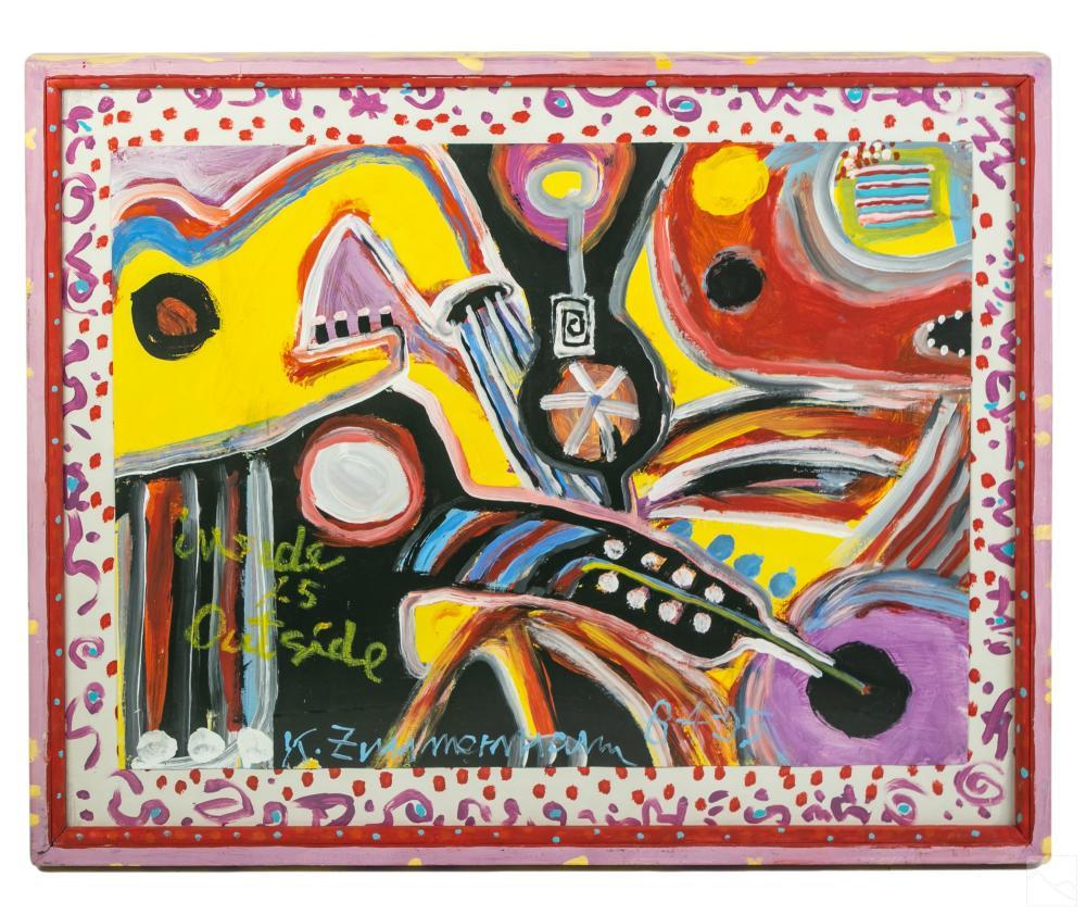 Kurt Zimmerman (1925-2017) Outsider Art Painting