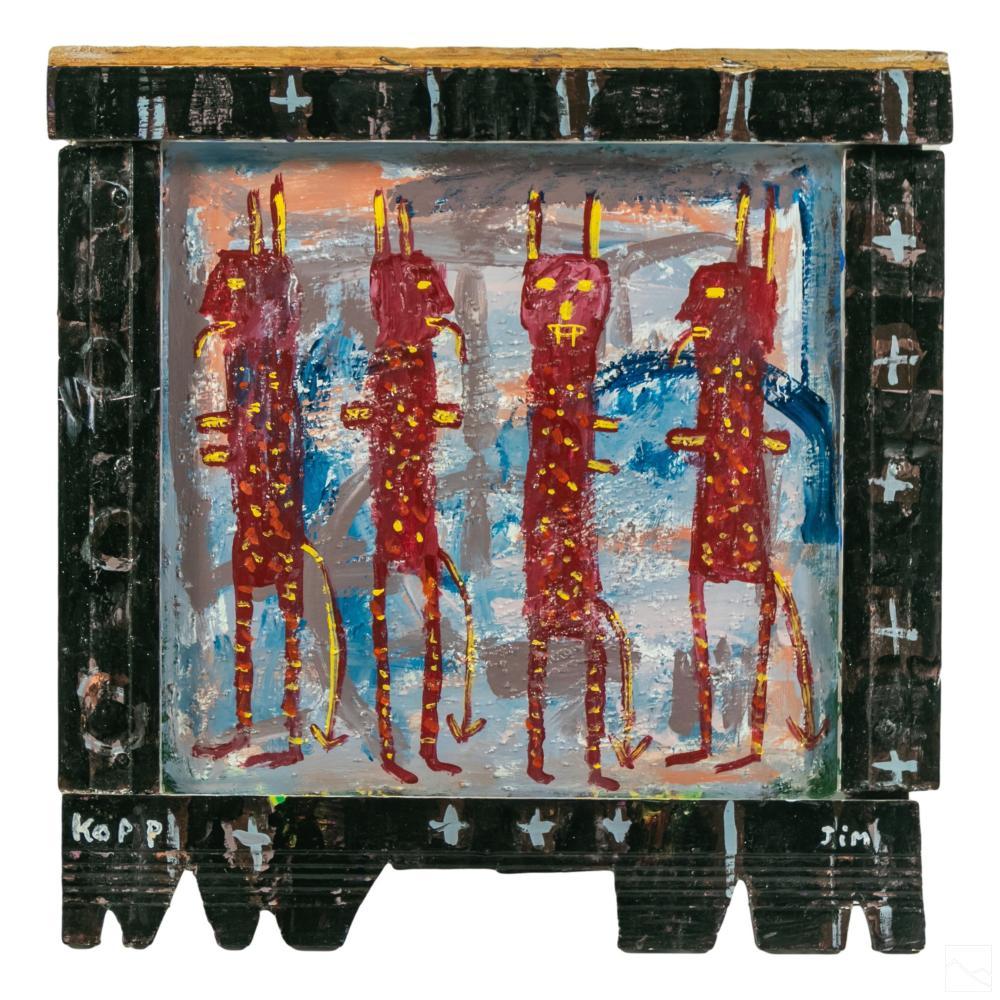 Jim Kopp b.1968 Modern Outsider Folk Art Painting