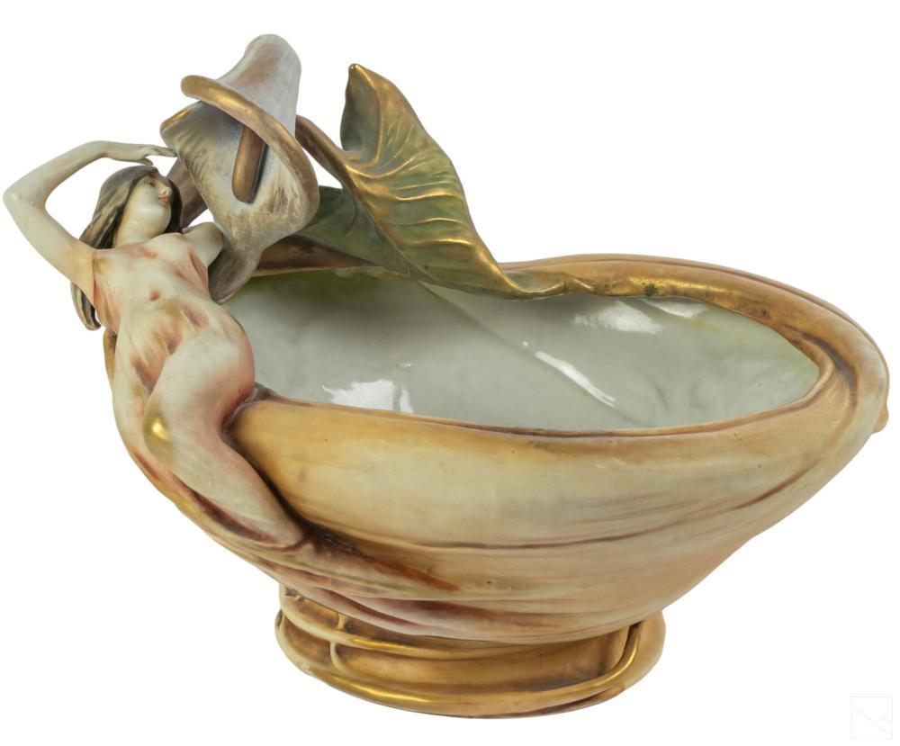 Amphora Austrian Antique Porcelain Pottery Bowl