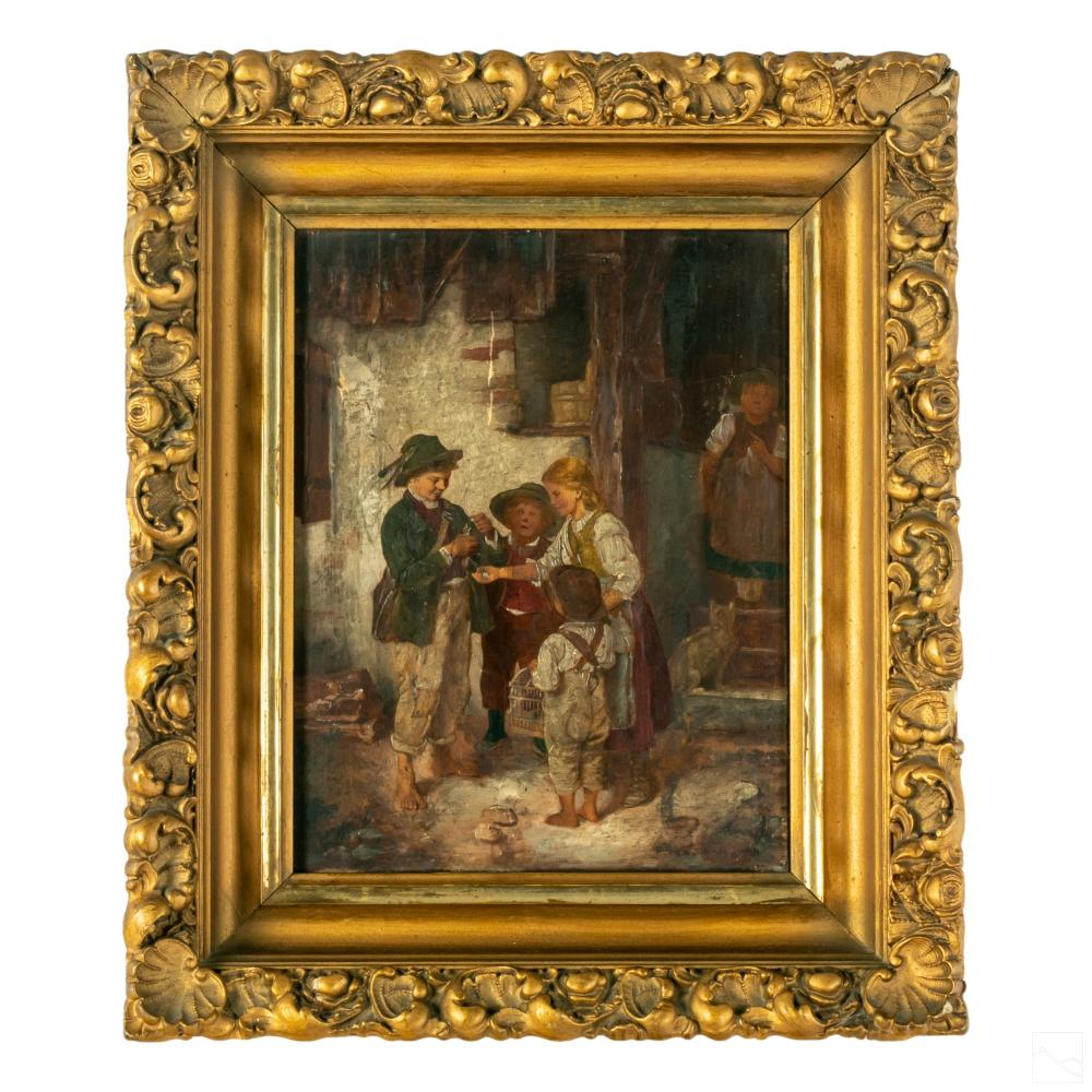 Franz von Defregger 1835-1921 Figural Oil Painting