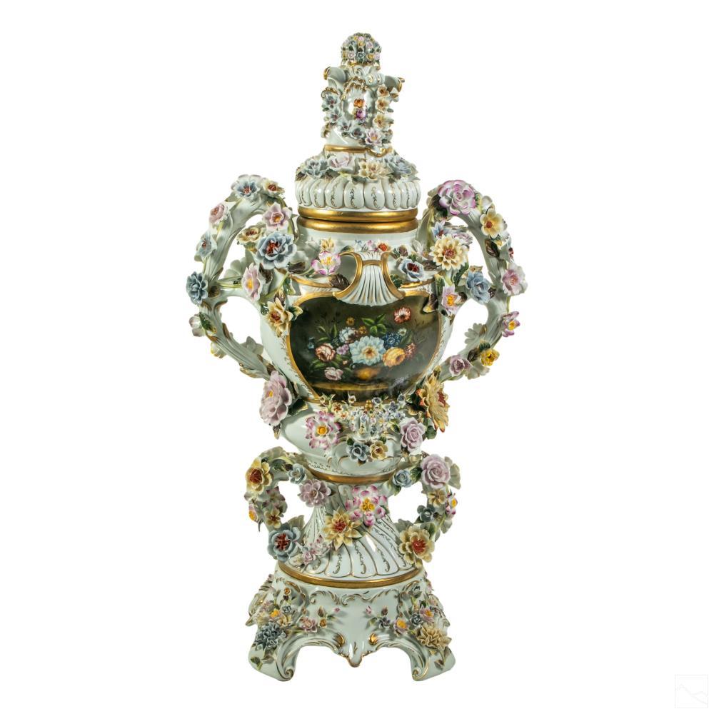 Sevres Style Palace Sized Porcelain Potpourri Vase