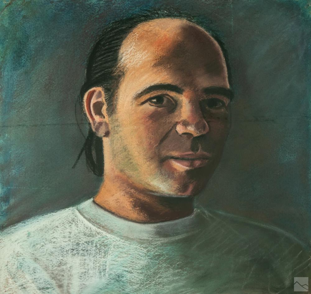 Dan McCleary (b.1952) Chuck Bulot Pastel Portrait