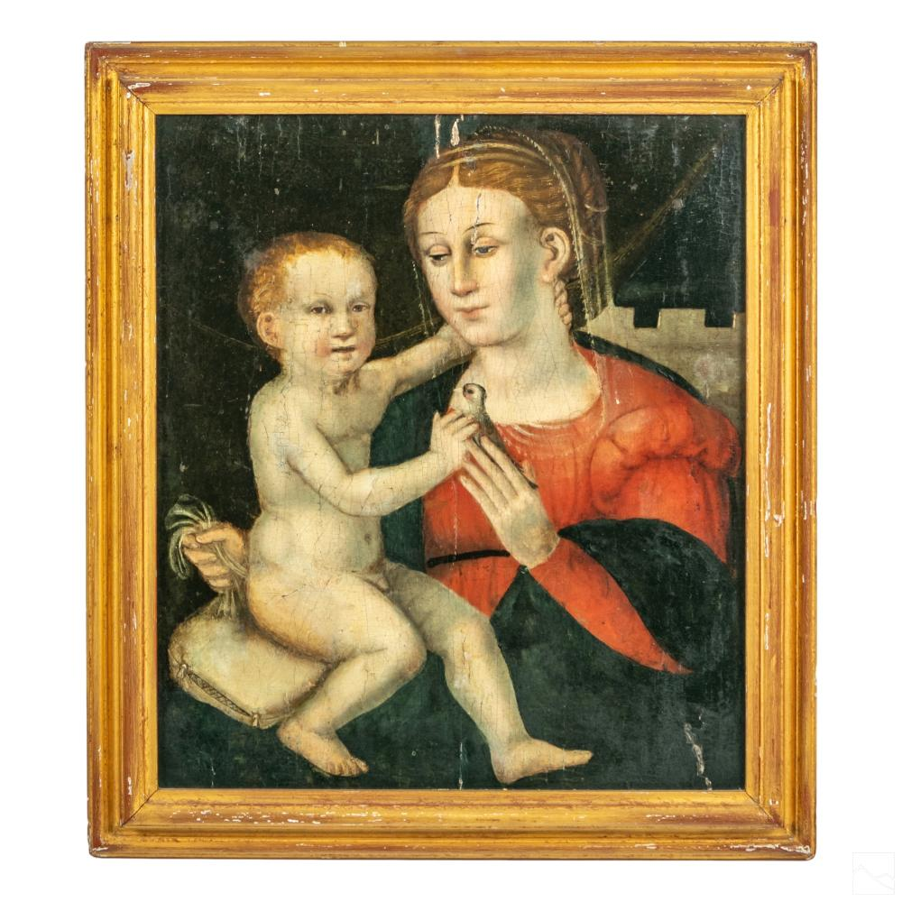 Madonna & Child Figural Religious Art Oil Painting