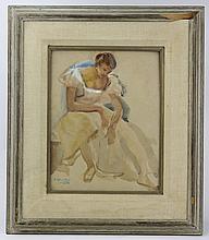 Joseph O'Malley (1903-1991) American Watercolor