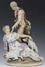 Antique KPM German Porcelain Paris Figural Group