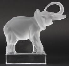 LALIQUE French Art Glass LUCKY Elephant Figurine
