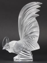 LALIQUE France Crystal Coq Nain Rooster Figurine