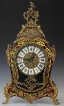 Boulle Inlay Ormolu Mounted Rococo Mantle Clock