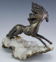 Lot 18: Peggy Reventlow Sterling Silver Horse Sculpture