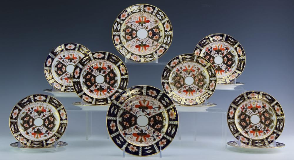 LOT 14 Royal Crown Derby Traditional Imari Plates