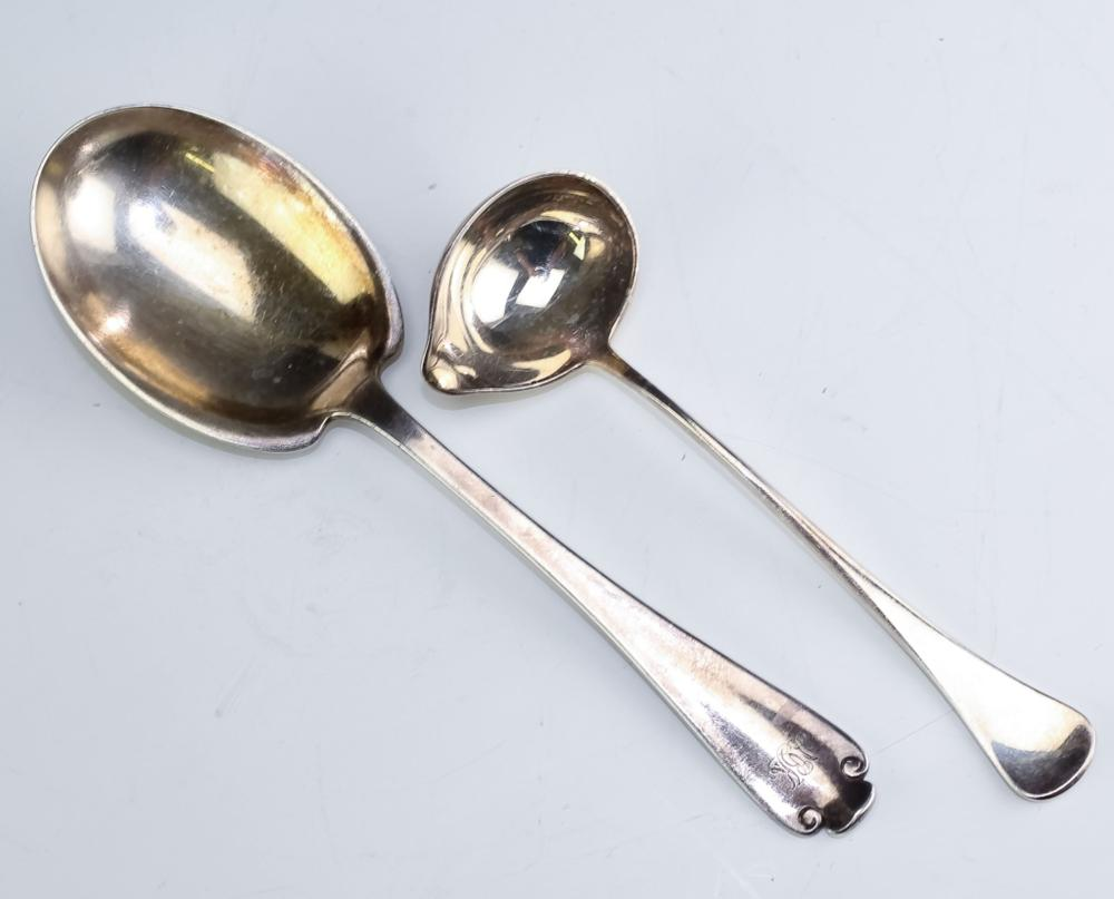 LOT 2 Tiffany & Co Sorensen Silver Serving Spoons