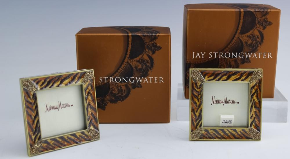 2 Jay Strongwater Tiger Stripe Photo Picture Frame