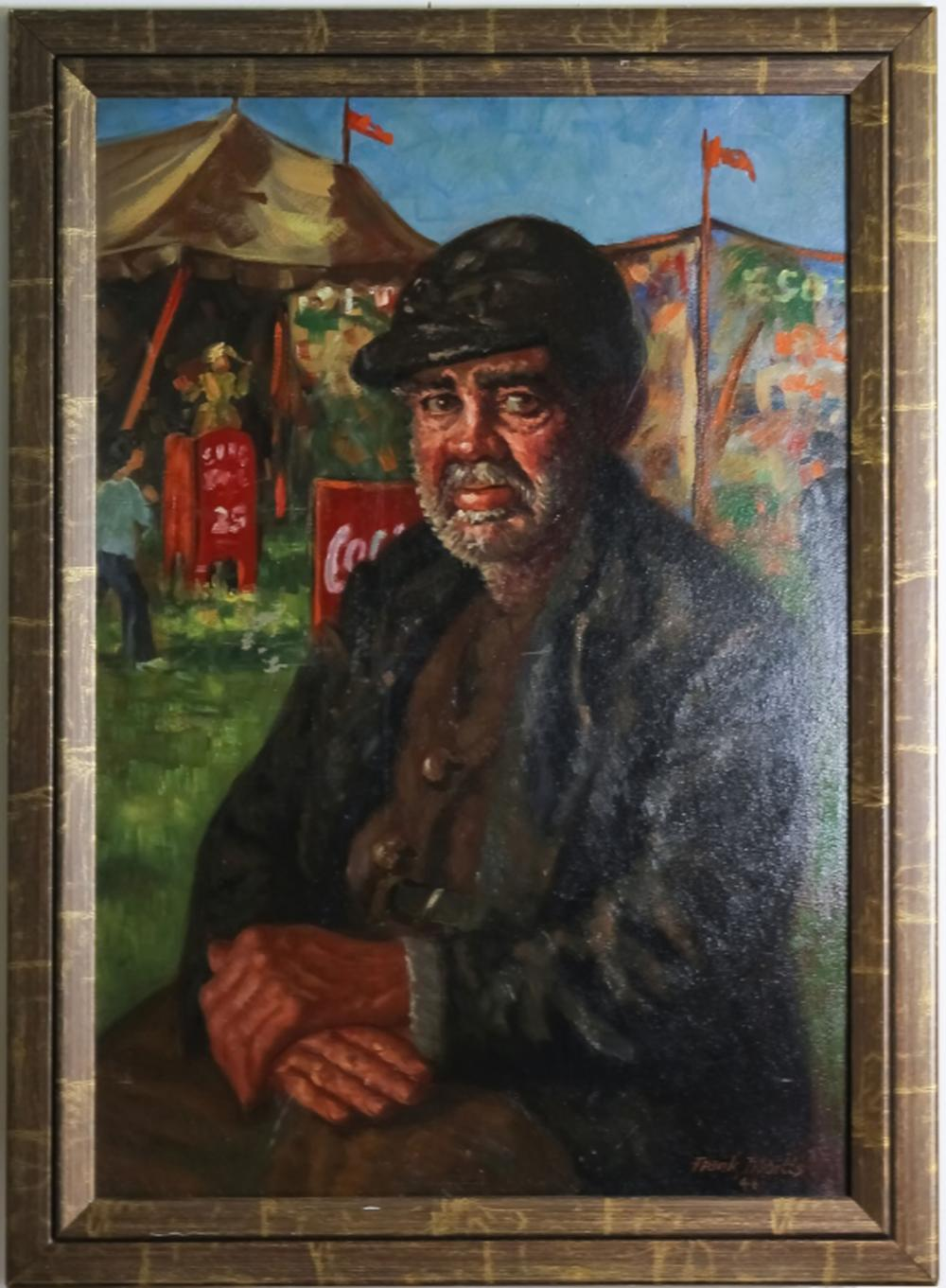 Frank E. Tibbetts American Portrait 1946 Painting