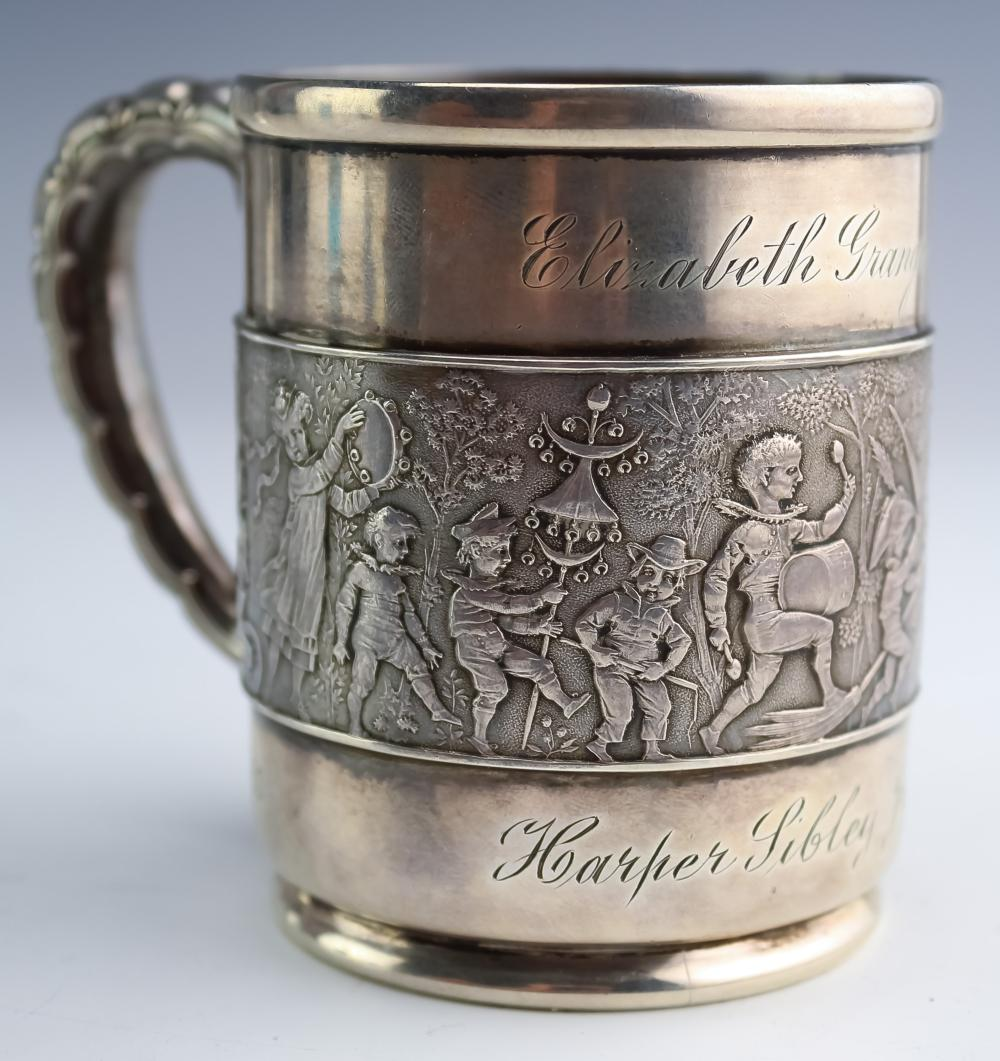 19th C Tiffany & Co Sterling Silver Child Band Cup