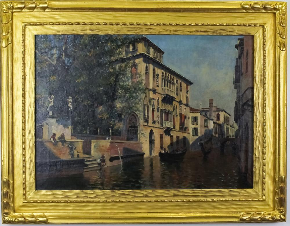 Signed Rico Venetian School Oil On Canvas Painting
