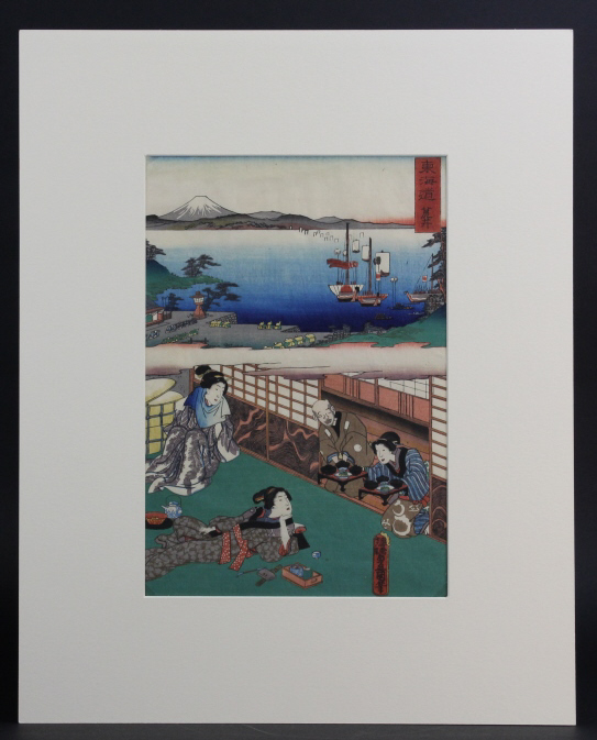 Antique Japanese Utagawa Toyokuni Wood Block Print