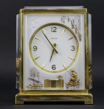RARE LeCoultre Asian Chinoiserie Lucite Atmos Mantle Clock