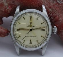 Mens ROLEX Circa 1952 Stainless Steel Oyster Royal Wrist Watch Ref. 6144