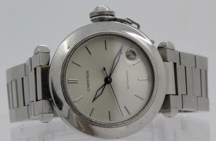 Authentic Cartier Pasha C Stainless Steel Automatic Wrist Watch Ref. 1031
