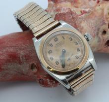 Rolex Two Tone Bubble Back Rose Gold Wrist Watch Ref. 3132 Circa 1934