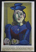 After Pablo Picasso Paris 1955 Exposition Poster Published by Fernand Mourlot