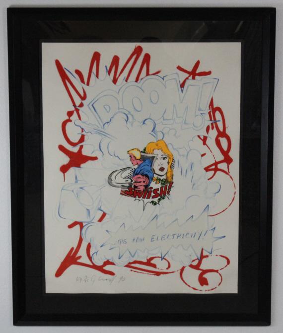 Pencil Signed John CRASH Matos Raw Electricity Pop Art L/E Serigraph Print