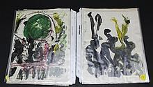 30 piece Collection of Purvis Young (1943-2010) Outsider Folk Art Painting