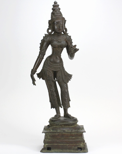 Museum Quality 19th Century South Indian Parvati Bronze 28
