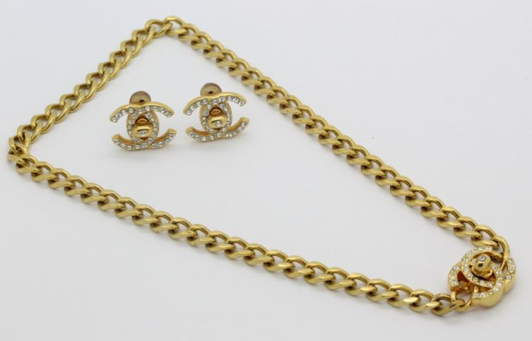 Authentic French CHANEL Chain Crystal 17