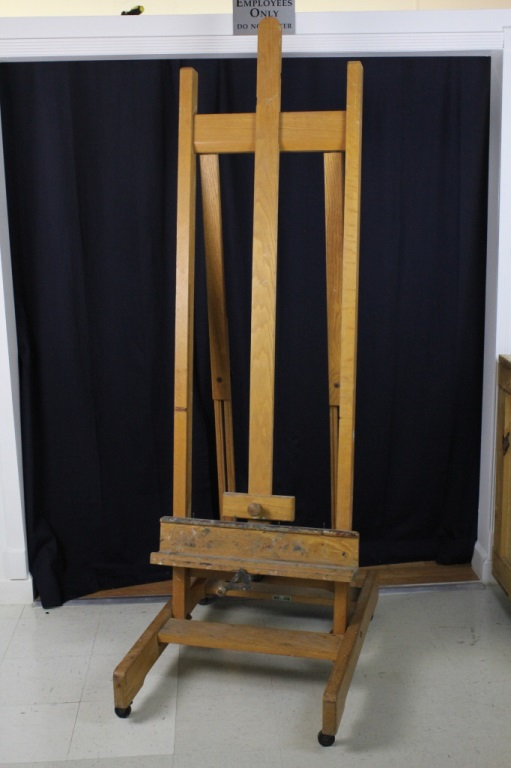 Morris Lapidus Estate : Personaly Owned Wooden Artist Studio Art Easel