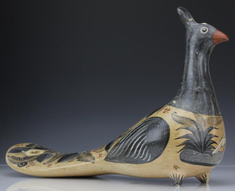 Vintage Mexican Art Pottery Bird from Morris Lapidus Estate
