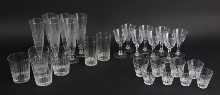 30 piece Lapidus Designed Crystal Stemware from Morris Lapidus Estate