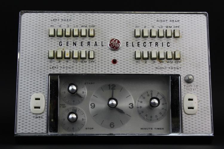General Electric GE Oven Control Panel from Morris Lapidus Estate