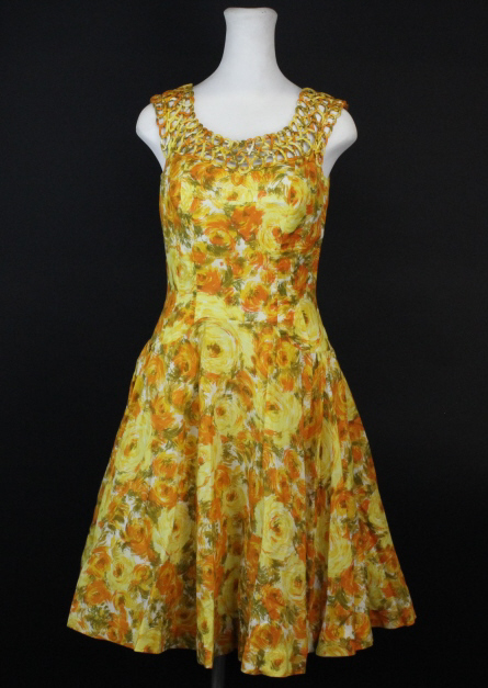 Vintage ALIX of MIAMI 1950's Ladies Clothing Dress from Bass Museum