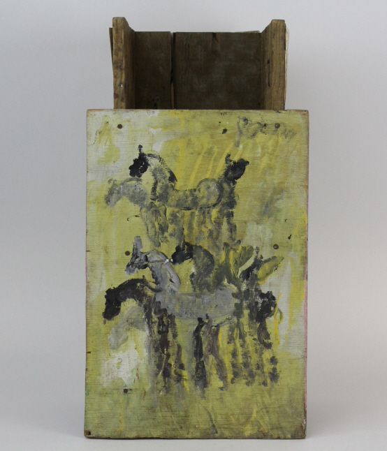 4 Side Purvis Young (1943-2010) Outsider Folk Art Painting Sculpture