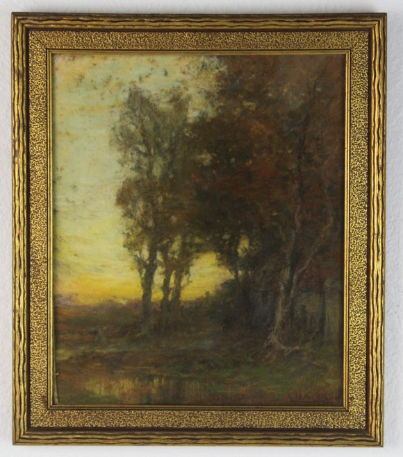 Signed George McCord (1848-1909) New York Tonalist Pastel Landscape Painting