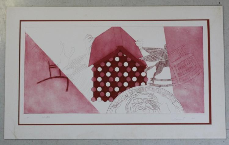 Pencil Signed JAMES ROSENQUIST Signed Book Dissapears LE Etching Print