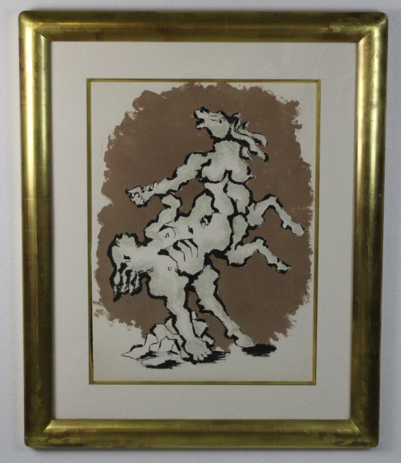 Jacques Lipchitz (1891-1973) THE HORSE Litho Lithograph Print on Vellum