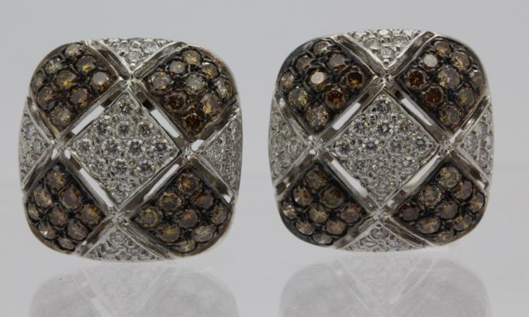 Monte Carlo 18k 4 Ct Tw Chocolate Diamond Earrings