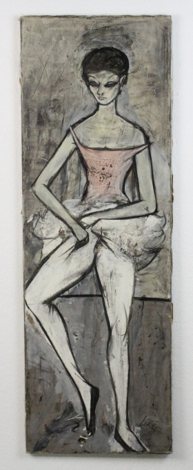 Signed Charles Levier (1920-2003) New York Modernist Ballerina Portrait Oil Painting