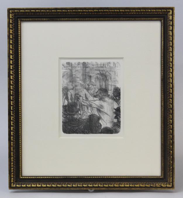 Henri Toulouse Lautrec La Halle Aux Draps Print from The Bass Museum